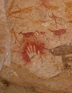 Hand Stencil Cave Painting
