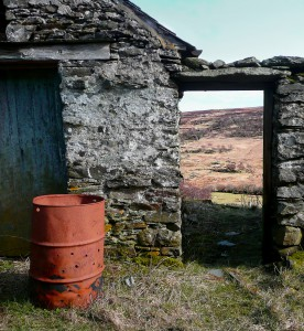 Ruined Farmhouse with Oil Drum